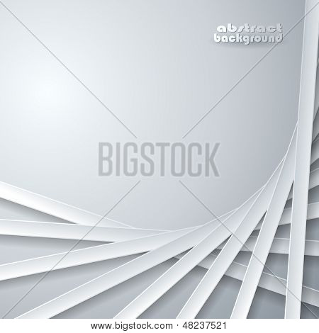 Abstract ribbons on gray background