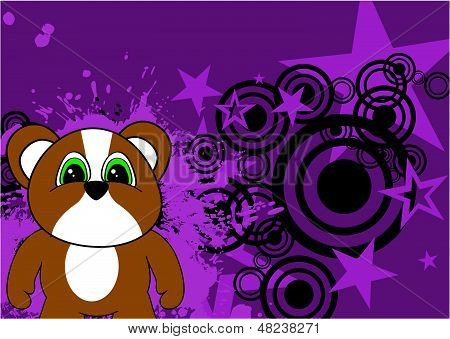hamster baby cute cartoon background