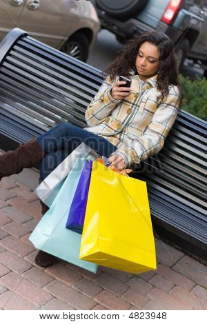 Shopper With Mobile Phone