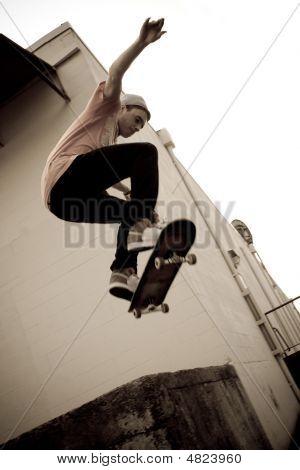 Skateboarding Jump