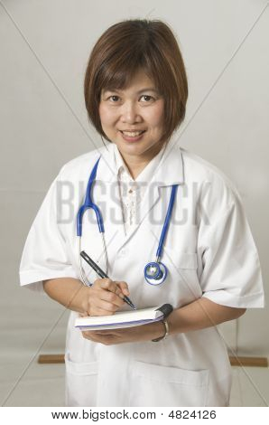Nurse With Patients Records