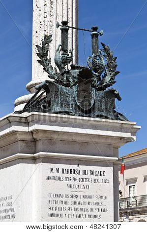 Bocage Statue in Setubal, Portugal
