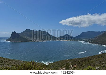 Chapman's Peak Drive. View to Hout bay and Hout town.