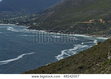 Chapman's Peak Drive. View to Scott Estate town.