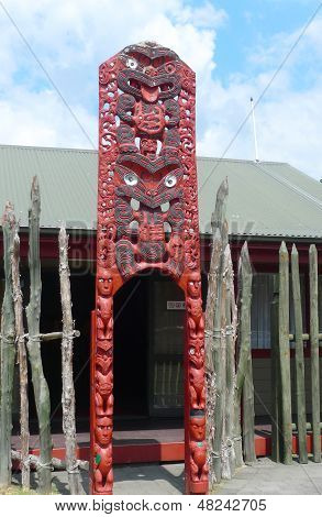 Maori carving at Te Puia Maori Arts and Crafts Institute, Rotorua, New Zealand