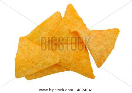 Taco Chips Closeup