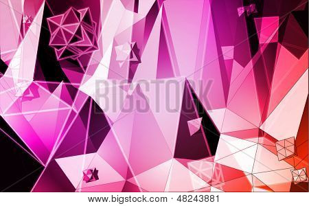 Triangles vector background
