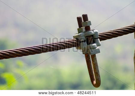 wire rope with the nut and bolt