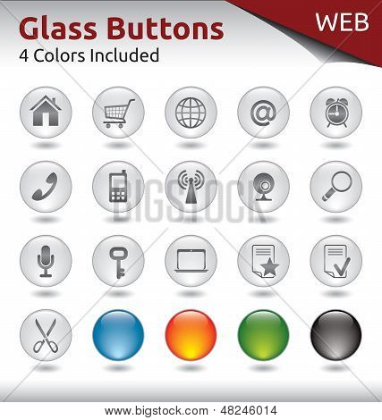 Glass Buttons Web