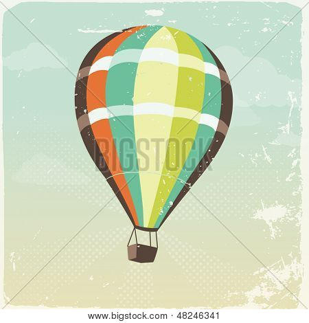 Retro hot air balloon illustration
