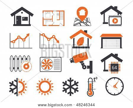 Immobilien Icons set 06 Smart Haus