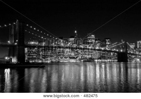 Nyc Night Bw