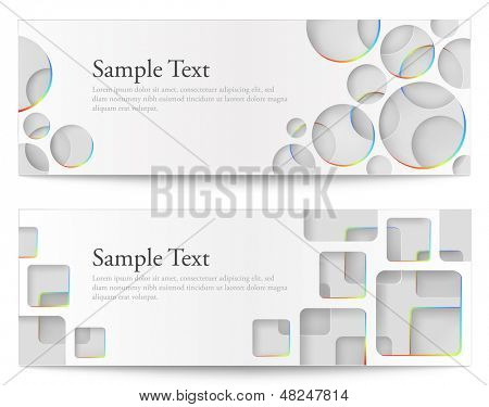 Vector illustration of abstract colorful banners. Eps10