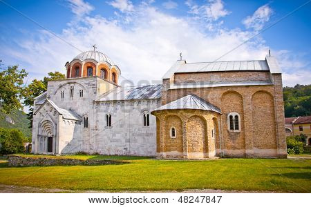 Orthodox monastery Studenica, Serbia, Unesco world heritage site. It is best known for its unique collection of 13th century frescoes.