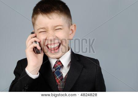 Lachend Boy