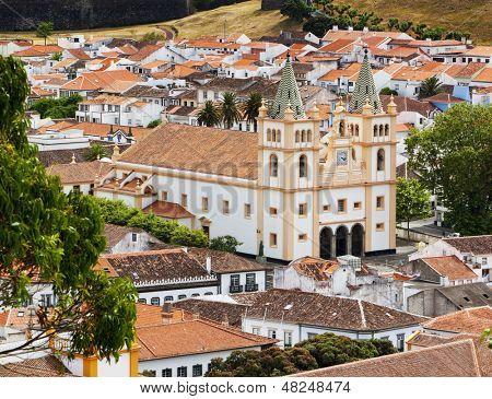 S�© de S�£o Salvador, the cathedral at Angra do Heroismo on Terceira island