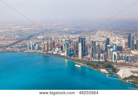Doha, Qatar. Bird's-eye View On The Modern City