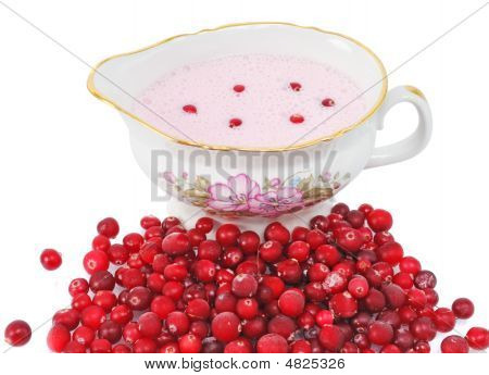 Cranberry Sauce In A Sauce-boat