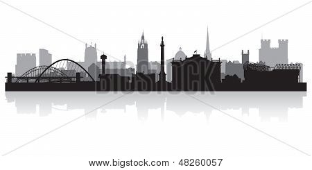 Newcastle City Skyline Silhouette