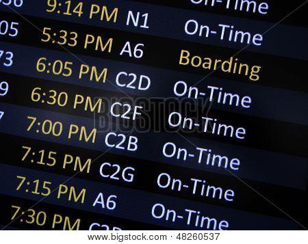 Boarding Signage