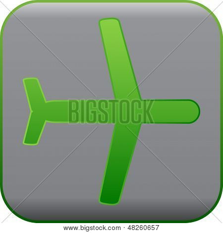simple modern plane sign, vector icon