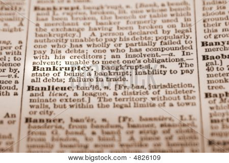 Bankruptcy Dictionary Definition