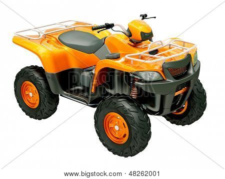 Sports quad bike isolated on a light background