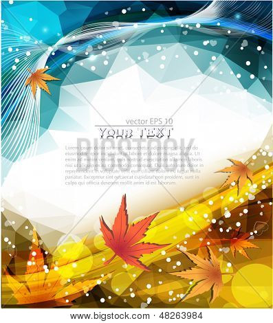 Vector abstract nature polygonal background
