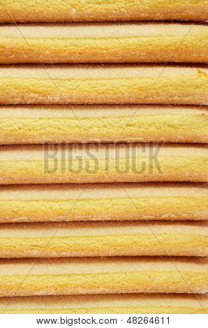 closeup of a pile of ladyfingers