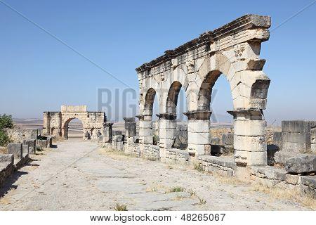 Arco en Volubilis, Marruecos