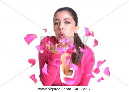 Blowing Rose Petals