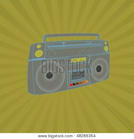 Illustration Of A Boombox