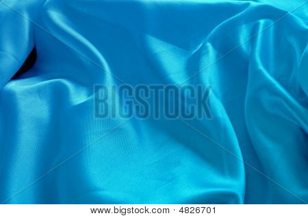 Soft Blue Silk Cloth Background