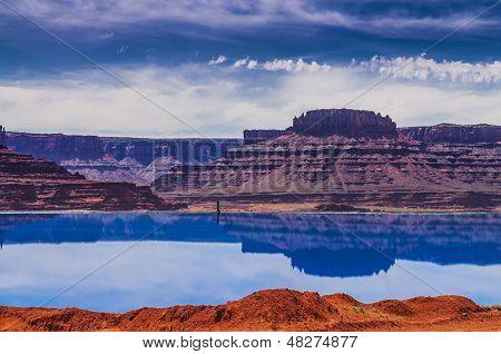 Evaporation Ponds Near Potash Road In Moab Utah