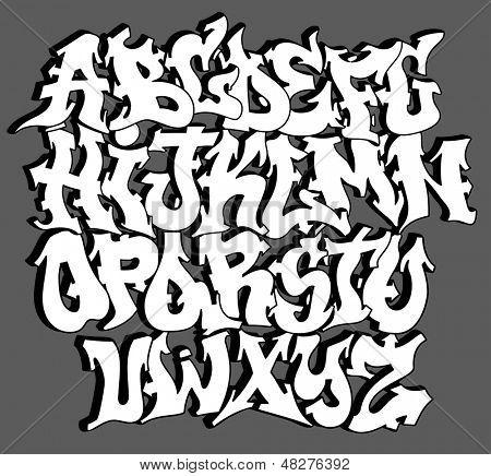 Vectores y fotos en stock de Letras del alfabeto graffiti font ...