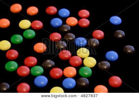 Colorful Candy On Black