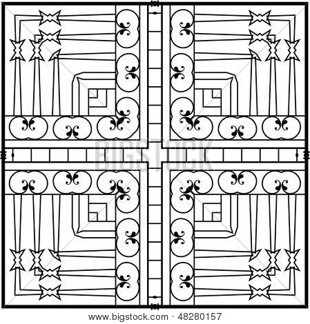 Wrought Iron Grill Design