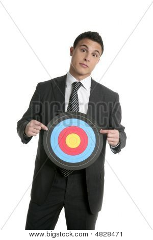 Businessman Metaphor Of Being Target