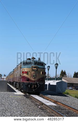Wine train in Napa Valley, California