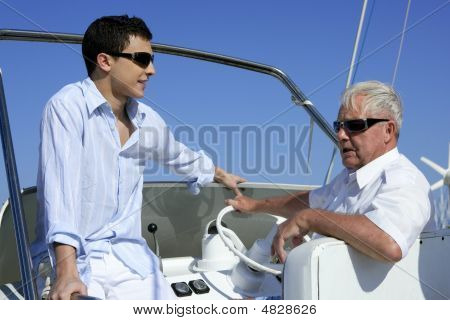 Outdoor Boat Vacation Summer, Men Generation