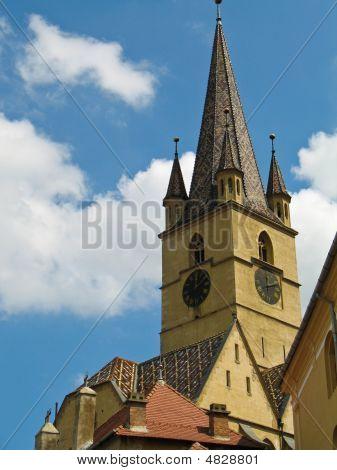 Tower Of The Evangelic Church In Sibiu Romania