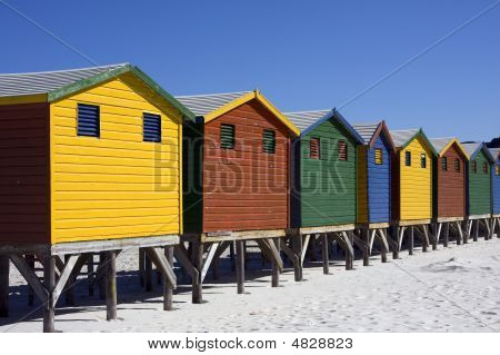 Colourful Muizenberg Beach Huts