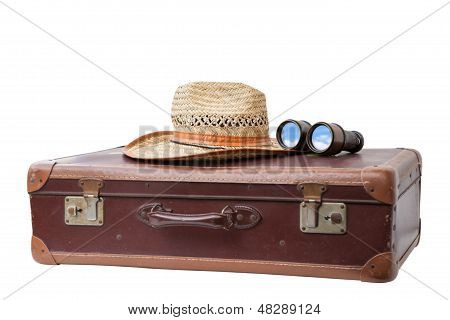Suitcase With Hat And Binoculars