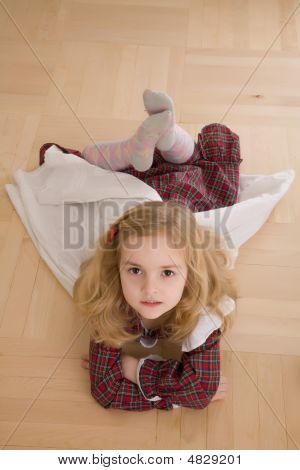 Pretty Girl Lying On The Floor