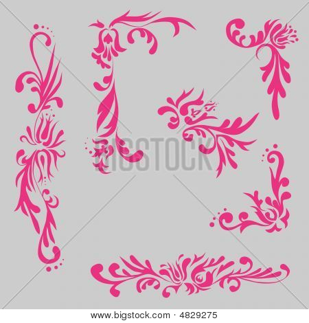 Floral Element In Russian Style