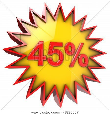 Star Off Forty Five Percent