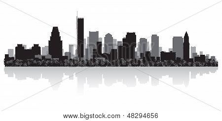 Boston City Skyline Silhouette
