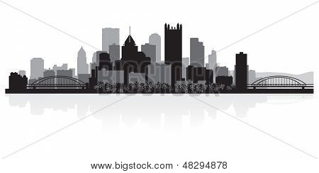 Pittsburgh City Skyline Silhouette