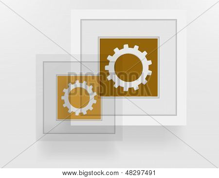 poster depicting abstract rings in the frame