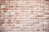 pic of brick block  - background created with an old brick wall - JPG